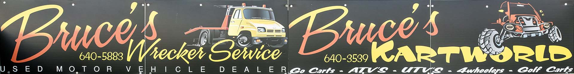 Bruce's Wrecker & Kart World 904 Park Avenue Moody, AL 35004 205-640-3539